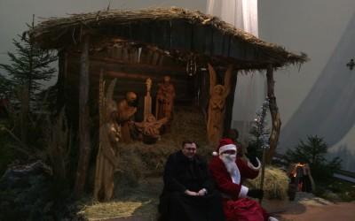 Kalėdų senelis Ignalinos bažnyčioje