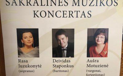 Sakralinės muzikos koncertas